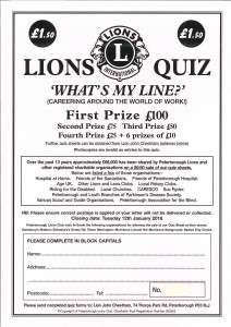 Peterborough Lions Quiz 2015